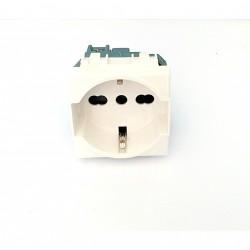 Bticino C4140/16 - Presa Schuko Trivalente Bipasso 16A 250V Luna Bianco