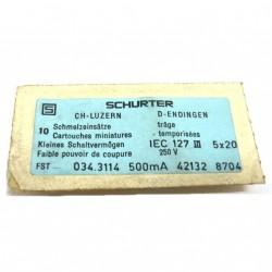 SCHURTER IEC127 - 10 x Fusibili in Vetro 50x20 250V.
