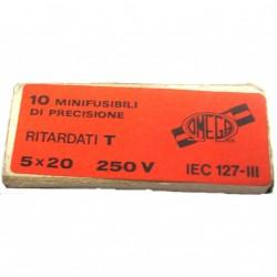 OMEGA IEC127 - 10 x Minifusibili di Precisione Ritardati in Vetro 50x20 - 250V.