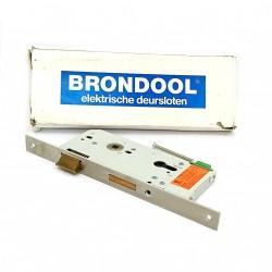 BRONDOOL 605-Serratura Elettrica da Infilare con Foro Entrata Chiave-Frontalino Cromato-20x9cm