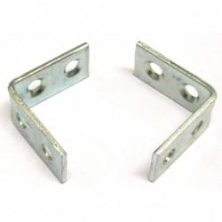 OEM - 2 x Staffe in Acciaio Inox a L con 4 Fori - Misure Cm 3x3x2